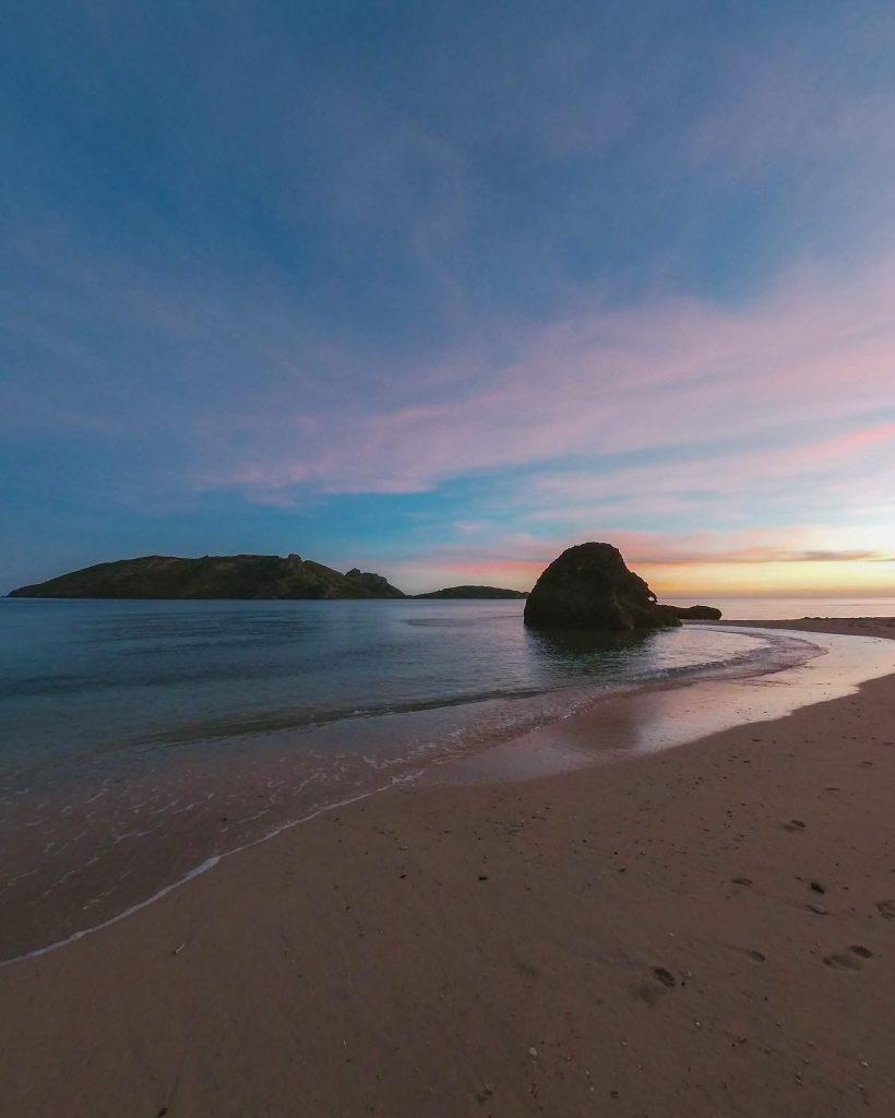 Coucher de soleil aux Fidji