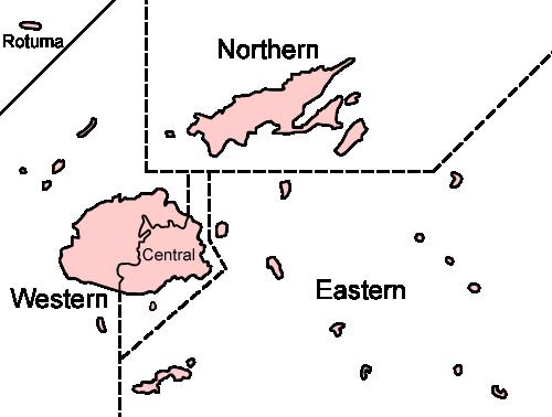 Divisions des Fidji